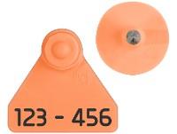 Caravanas Allflex No.10 Numeradas  naranjas