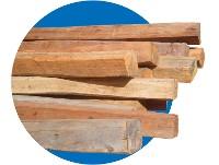 Poste descarnados x 2.40 mts Reforzado Cuadrado