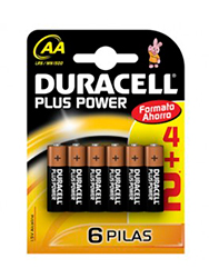 Pilas chicas AA x 6 DURACELL