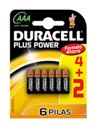 Pilas chicas AAA x 6 DURACELL