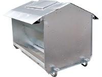 Comedero autoconsumo galvanizado (1Ton.) desarmable c/patin
