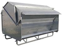 Comedero autoconsumo galvanizado (2.5Ton.) desarmable c/patin