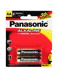 Pilas PANASONIC chicas alcalinas AA x 2 unids.