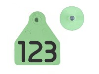Caravanas Allflex No.12 Numeradas  verdes
