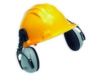 Casco de seguridad amarillo CLIMAX c/prot.audit.