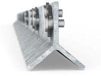 CLIPEX Poste Electrico galvanizado 1.60 mts 5 clip
