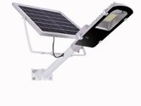 Foco calle solar con brazo con control cálido Sol-317