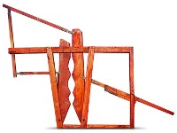 Cepo reforzado de madera dura